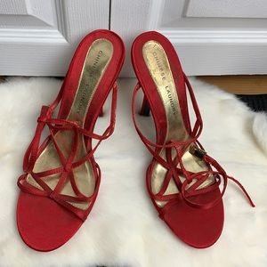 Strappy red Chinese Laundry heels